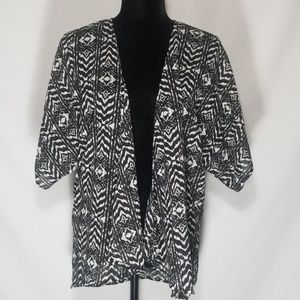 Dizzy Gal Black and White Sheer Jacket